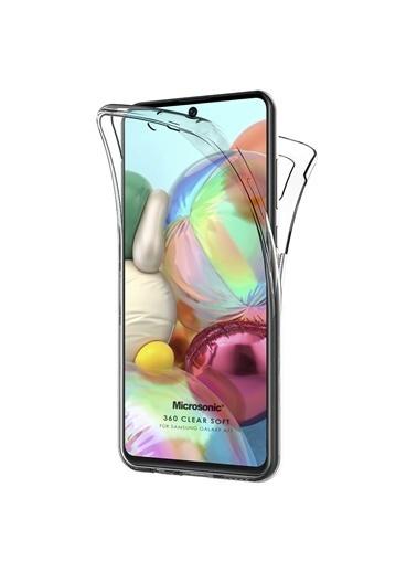 Microsonic Samsung Galaxy A71 Kılıf 6 tarafı tam full koruma 360 Clear Soft Şeffaf Renksiz